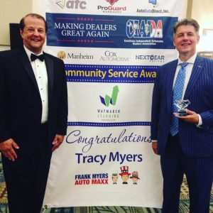 CIADA Award given to Tracy Myers, wineer of Frank Myers Auto